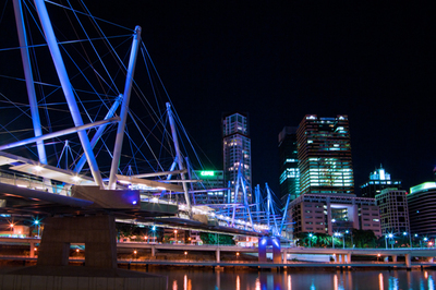 Kurilpa Bridge at Night