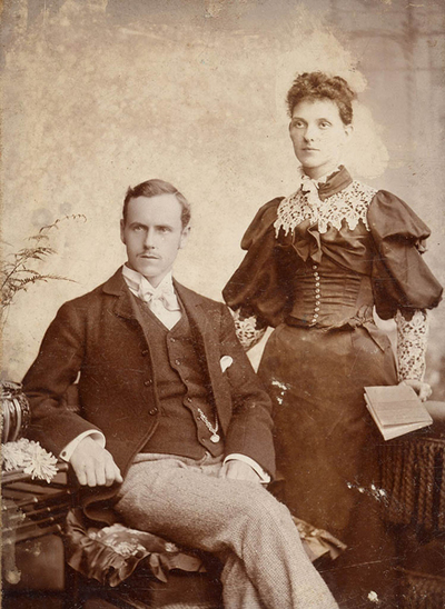 Old Sepia Portrait of Couple