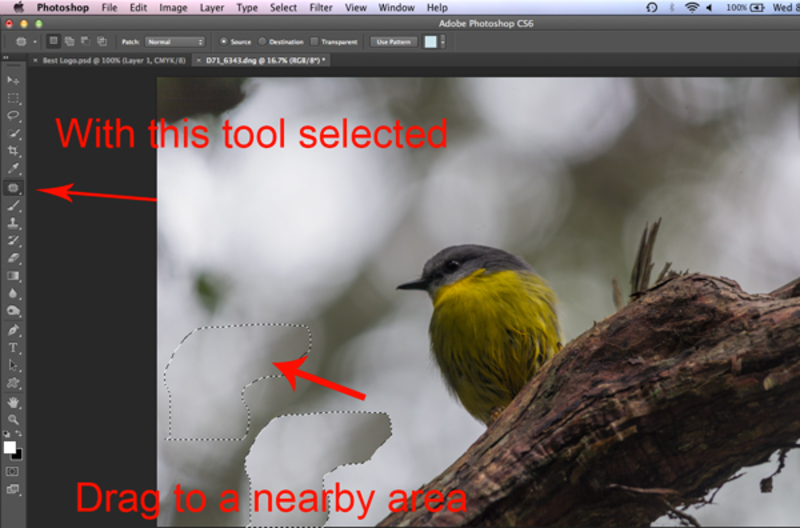 photoshop screenshot patch tool 